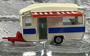 Vintage 70s Corgi Touring Caravan Camper Trailer Diecast Excellent Condition