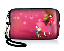 Pink Girl Universal Compact Digital Camera Case Bag Pouch For Nikon Canon Sony