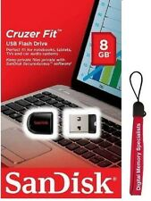 SanDisk 8GB USB SD CZ33 Cruzer Fit 8G USB 2.0 Flash Drive SDCZ33-008G +Lanyard