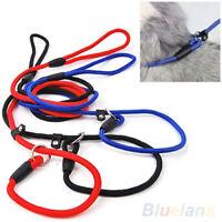 Pet Dog Nylon Rope Training Leash Slip Lead Strap Adjustable Traction Collar Hot