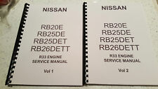 NISSAN R33 SKYLINE ENGINE WORKSHOP SERVICE MANUAL RB20E RB25DE RB25DET RB26DETT