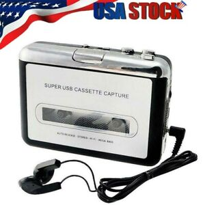 Tape to PC Super USB Cassette-to-MP3 Converter Capture Audio Music Player USA