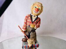 Clown Dozo Rosko TN Nomura Toys mécanique tôle 33 cm pour restauration