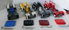 Lego Truck Trailer Vehicle Car Lot of 4 Base Tire Wheel Rim Mud Guard Steering