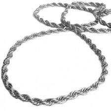 Silver plated 36″ Length 6mm Thick Rope Hiphop Bling Chain