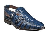 Stacy Adams Seneca Fisherman Sandal Blue Leather Summer 25169-400 Free Shipping
