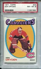 1971 Topps Hockey #45 Ken Dryden Rookie Card RC PSA 8
