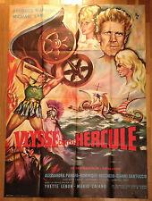 AFFICHE CINEMA peplum ULYSSE CONTRE HERCULE 1962 Marchal Michael Lane Boschero