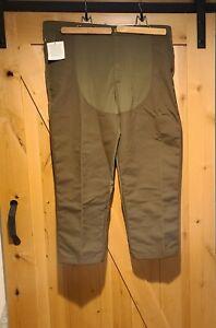 LL Bean Hunting Fishing Canvas Brown  Turteskin Pants Mens 46x31 New