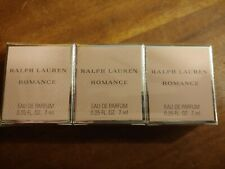 NEW & SEALED - 3 Ralph Lauren Romance Eau de Parfum .25 fl oz  Fast Ship NIB