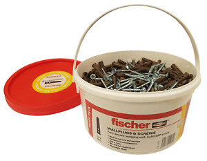 Fischer Brown Contract Plugs & Screws x 400 Tub (FTUBBROWN)