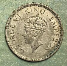 1941 INDIA 1/2 HALF RUPEE SILVER COLLECTOR COIN. FREE SHIPPING