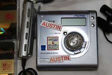 SONY MZ NHF800 NET MD HI MD  MINIDISC WITH SONY MICROPHONE, BATTEIRES