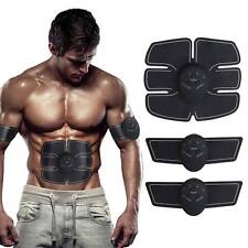 Black ABS Body Fit Electrical Muscle Stimulation Gear Arm Toning Training Belts