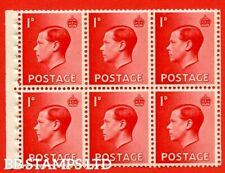 Sg. 458a. Pb2. 1d Red. A fine Unmounted Mint booklet pane of 6. Perf type B48595