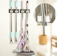 New Kitchen Mop Broom Holder Wall Mounted Organizer Brush Storage Hanger Tool