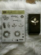 New Stampin up Painted Harvest Stamps new Leaf Punch used Bundle