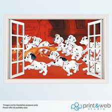 101 Dalmatians 3D Window View Decal Wall Sticker Home Decor Mural Disney Kid