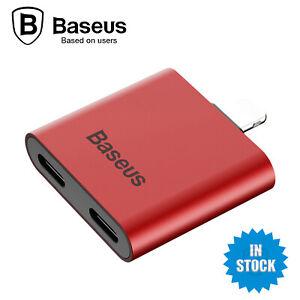 Baseus L39 2 in 1 Socket Adapter Splitter Charging Headphone For iPhone iPad