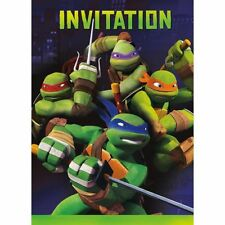 TEENAGE MUTANT NINJA TURTLES INVITATIONS  (8) ~ Birthday Party Invites