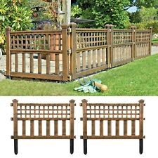 4 x BRONZE PLASTIC FENCE PANELS GARDEN LAWN BORDER EDGING PLANT BORDER LANDSCAPE