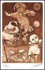Lies van Vlijmen C3 Exlibris Bookplate Children Woman Dolls Toys 1020