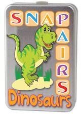 Dinosaur Snap Pairs Childrens Pairs Card Game Tin