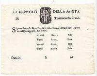 B537-FEDE DI SANITA'-BRESCIA NON UTILIZZATA