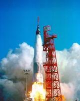 New 8x10 NASA Photo: Launch of Friendship 7, Astronaut John Glenn in Orbit