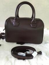 Emporio Armani Ladies Leather Top Handle Vitello Liscio Handbag, Dark Tan