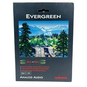 Audioquest Evergreen RCA Cable 3 Meters 10 Ft New