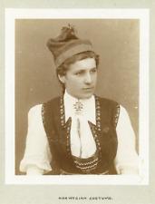 Norway, Norwegian costume  Vintage citrate print. Tirage citrate  11x13  C