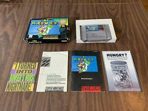 Super Mario World (Super Nintendo, SNES) Complete in box -- Player's Choice box
