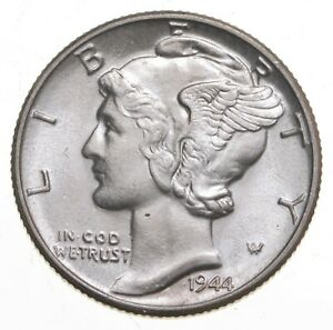 CH Unc 1944 Mercury Liberty Dime - 90% Silver - From an Original Roll! *249