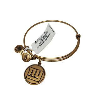 NEW Alex and Ani NFL New York Giants Football Bracelet Gold Toned Adjustable