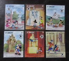Tematiche Vincent Walt Disney Serie Emessa Da Grenadines Of St Francobolli