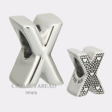 Authentic Pandora Sterling Silver Letter X Bead 797478