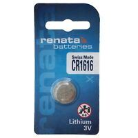 1 x Renata Batteries 1616 CR 1616 3V Lithium Coin Battery Swiss Made