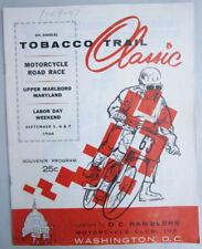 1964 VINTAGE T.T. TOBACCO TRAIL MOTORCYCLE RACING PROGRAM TRIUMPH BSA HARLEY BMW