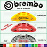Brembo Decal Sticker Brake Caliper (Set of 8pcs) Curved Emblem Vinyl High Temp s
