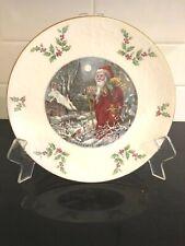 """Royal Doulton England Victorian Style Santa 1980 Collector Plate 8 1/4"""""""