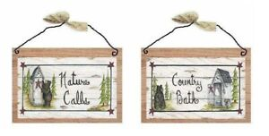 Rustic Outhouse Pictures Bears Nature Calls Outhouses Potty Sign Hanging Plaques