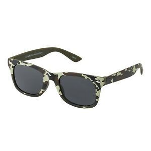 Green Camouflage Kids Childrens Sunglasses UV400 Classic Boys Shades Glasses