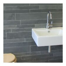 natural slate strips for cladding walls - Brazilian Grey slate floor wall tile