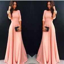 Stunning Long Pink Dress Formal Stretch Elegant Deb Graduation Valedictory Flair