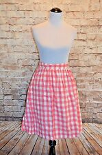 Modcloth Garden Gallery Skirt NWOT  XS Pink white gingham cotton  namesake label