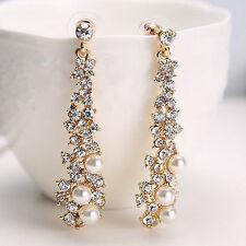 Boucle d'oreille strass perle boucles d'oreilles longues Boutique haut de gamme