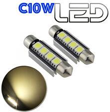 2 Ampoules navette c10w 41 mm 41mm 3 LED SMD 4300K Habitacle Plafonnier Plaque