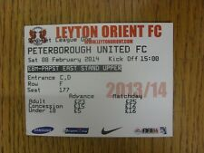 08/02/2014 Ticket: Leyton Orient v Peterborough United  . Thanks for viewing our