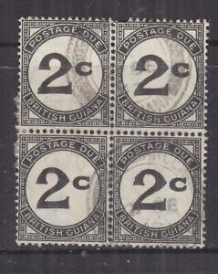 BRITISH GUIANA, POSTAGE DUE, 1940 ordinary paper, 2c. Black, block of 4, used.